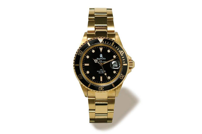 BAPE Type 1 BAPEX Black Dial Gold Silver Watches Timepieces
