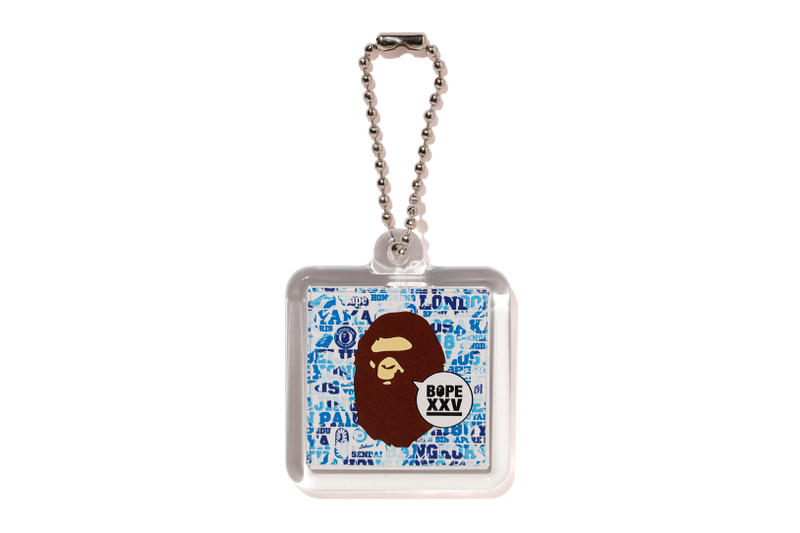 """BAPE """"The XXV Project"""" Collection Lookbook A Bathing Ape Collection Purchase Buy Cop Now Shark Hoodies Graphic Tees T-Shirts Sticker Set Keychain Ape Head Wall Clock iPhone 7 8 X Case"""