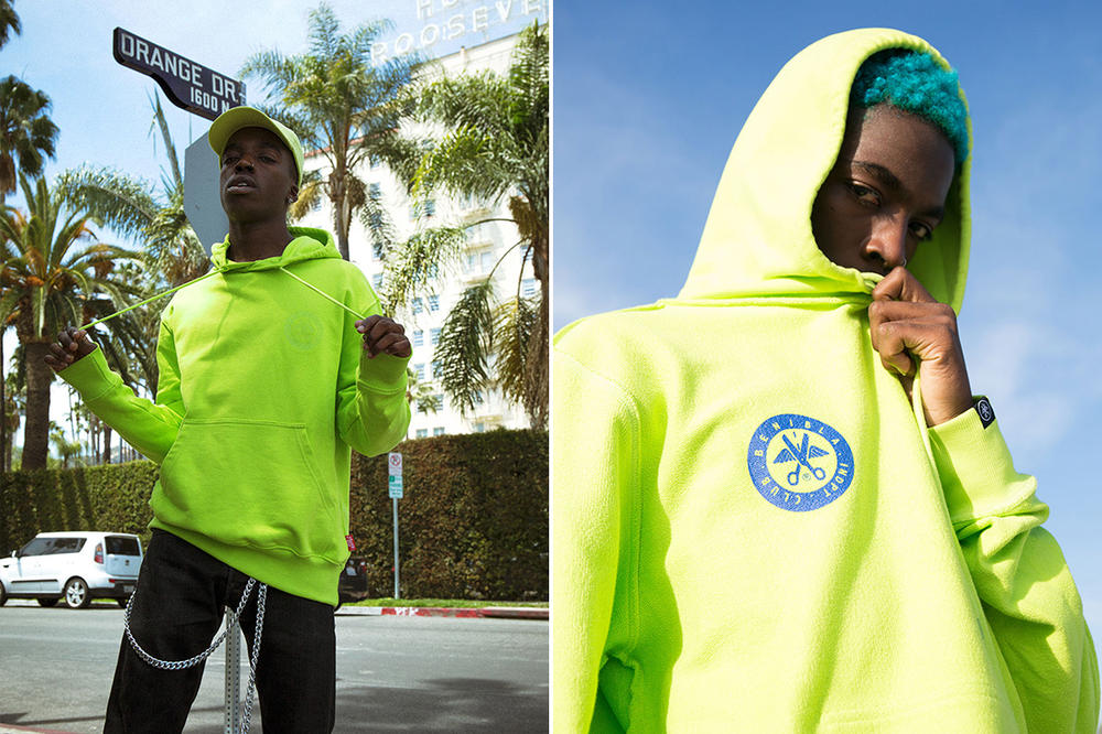 Benibla Spring 2018 collection lookbook los angeles release hoodies hats waist bags sweaters track pants