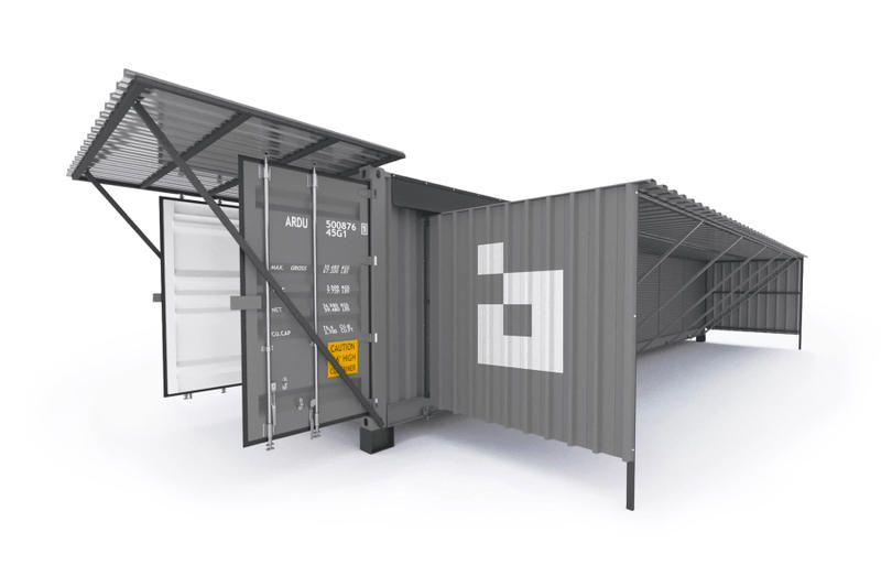 Bitfury Blockbox Shipping Container Bitcoin Mining Datacenter 500 square foot 176 air-cooled