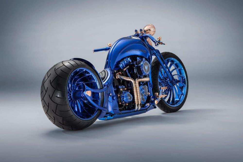 Bucherer Bundnerbike Harley Davidson Blue Edition Motorcycle 1 79 million dollars usd bike