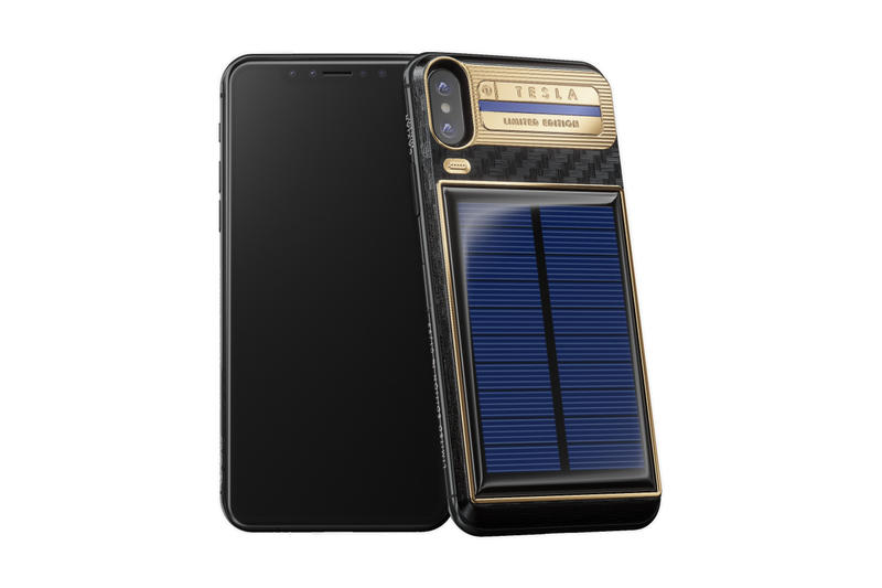 Caviar iPhone X Tesla Device Solar Power elon musk steve jobs nikola tesla