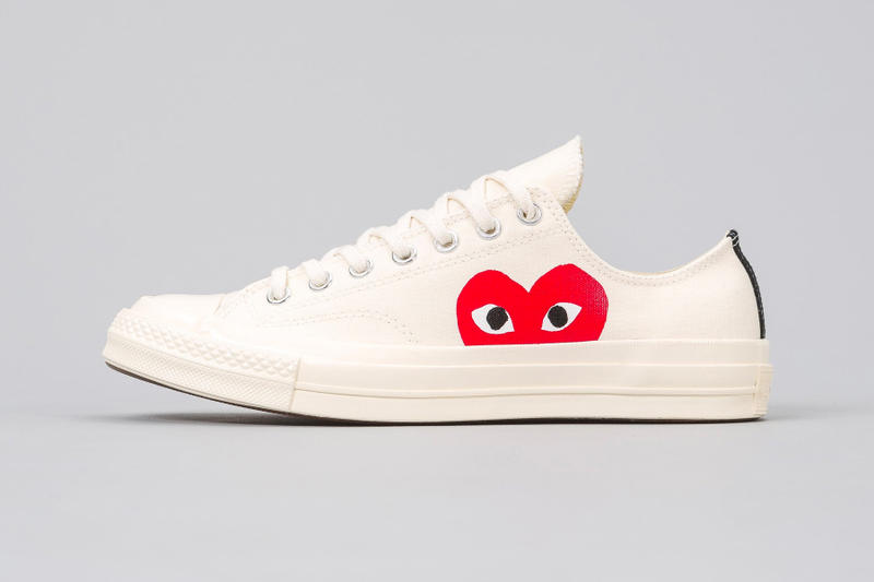 ccedc0318441 COMME des GARÇONS PLAY Converse Chuck Taylor All Star 70 release info white  black high-