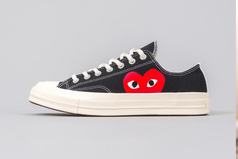 COMME des GARÇONS PLAY Converse Chuck Taylor All Star 70 release info white black high-tops low-tops