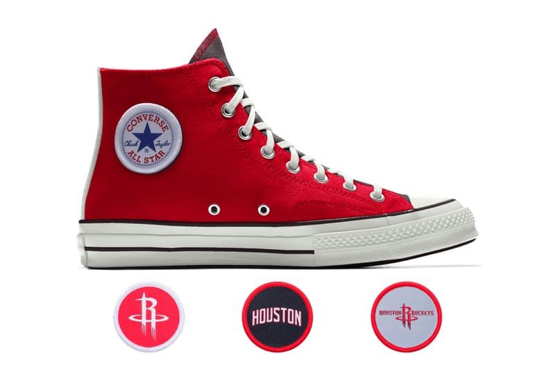 Converse Custom Chuck 70 NBA High Philadelphia 76ers boston celtics chicago bulls cleveland cavaliers golden state warriors oklahoma city thunder houston rockets new york knicks san antonio spurs