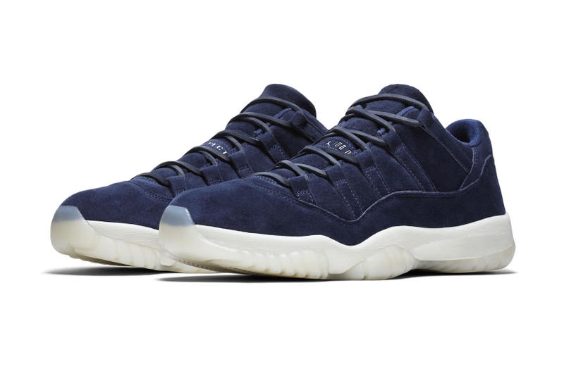 773282e9502 Derek Jeter Air Jordan 11 Low RE2PECT New York Yankees Jordan Brand AJ11 JB  Sneakers Suede