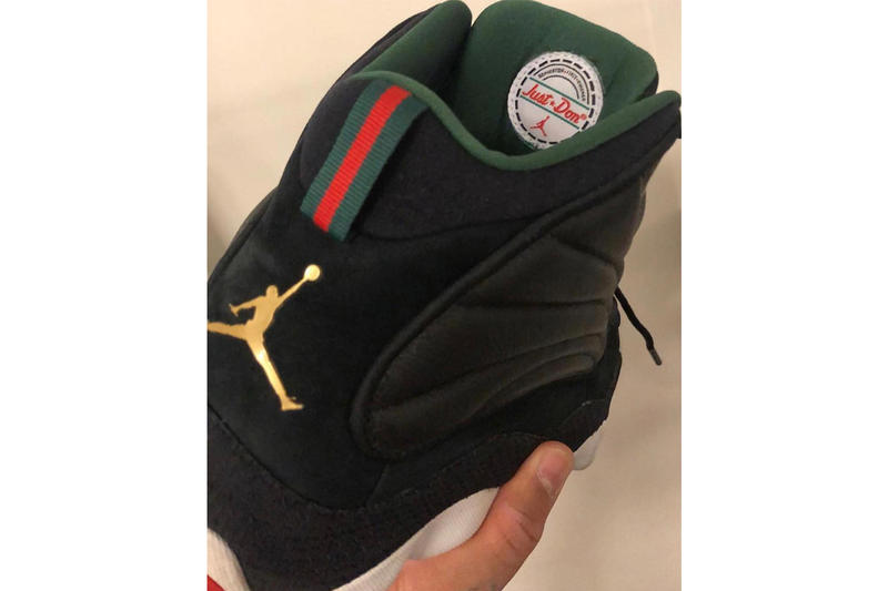 Don C Jordan Pro Strong Brand Gucci Green Red sneakers footwear