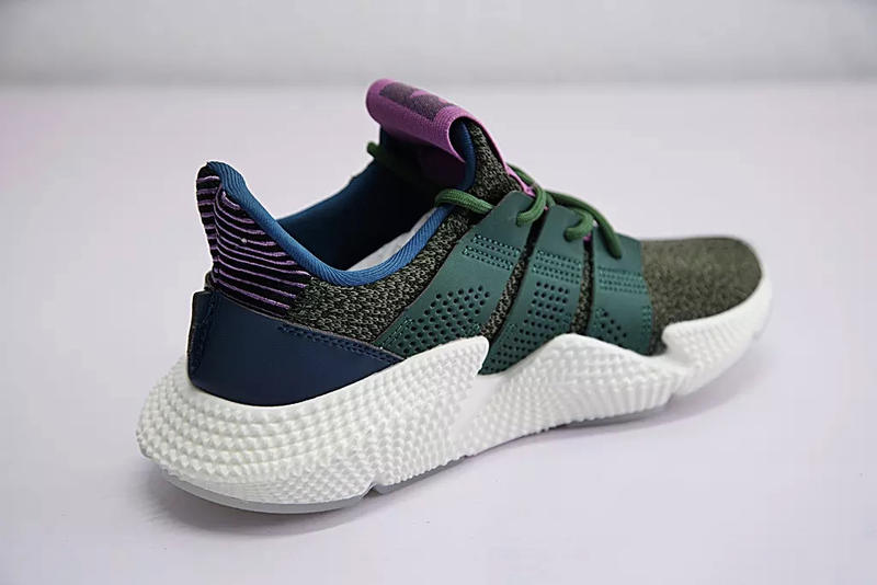 Dragon Ball Z Cell adidas Originals Prophere Green Blue Purple Pink Colorway Chunky Sneaker Closer Better Clearer Look Release Details