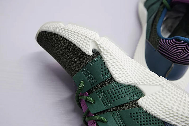 c2ee516fabd Dragon Ball Z Cell adidas Originals Prophere Green Blue Purple Pink  Colorway Chunky Sneaker Closer Better