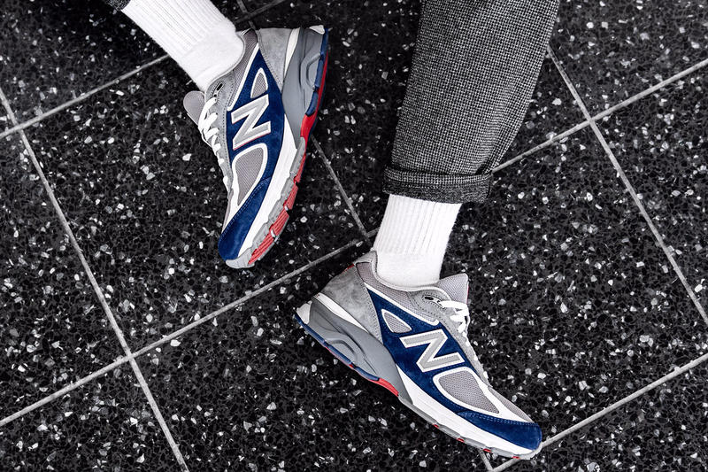 DTLR Villa Exclusive New Balance 990 memorial day release info sneakers footwear grey blue