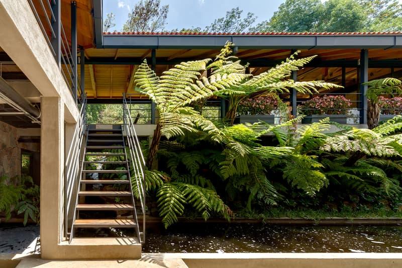 El Humedal Building Mexico TAAR Taller de Arquitectura de Alto Rendimiento Greenery Plants Trees Stone Brick Building