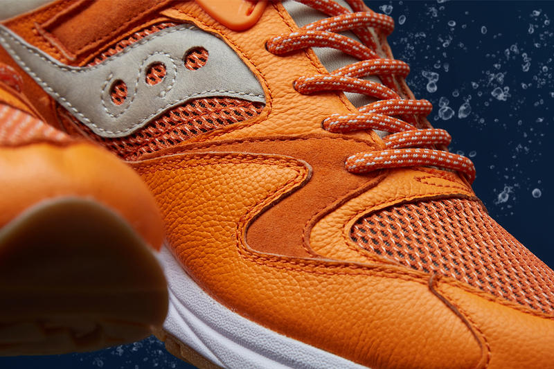 END Clothing Saucony Grid 8500 Lobster Release Info Details Jaffa Orange Peel Orange Blue Closer Look how to buy cop purchase drop may 11 2018