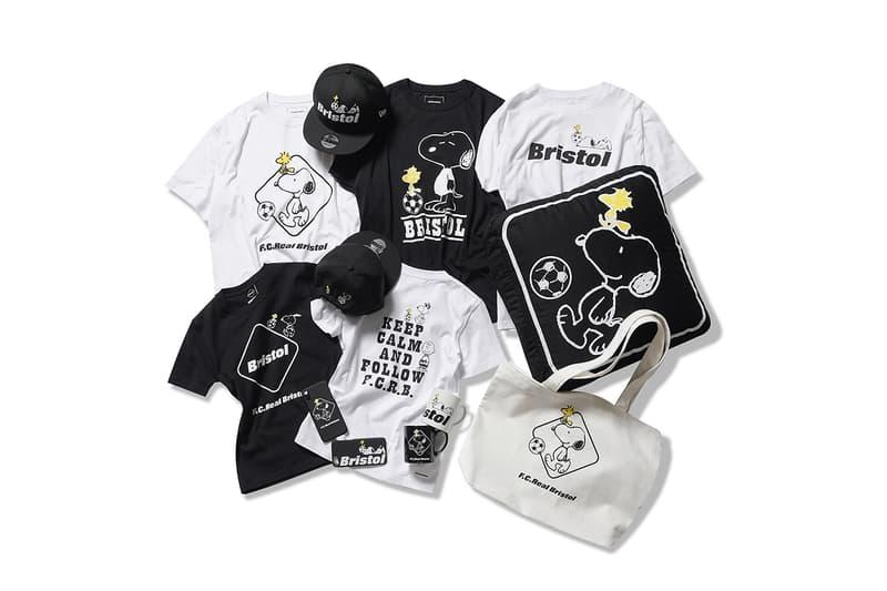 F C Real Bristol peanuts collaboration clothing tee shirt bag snoopy hat cap mug sticker phone case may 26 2018