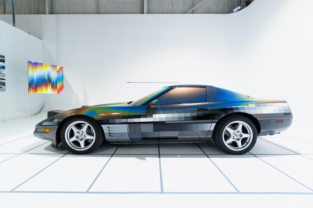 felipe pantone ultradynamic chevrolet corvette artworks beyond the streets los angeles california paintings installations