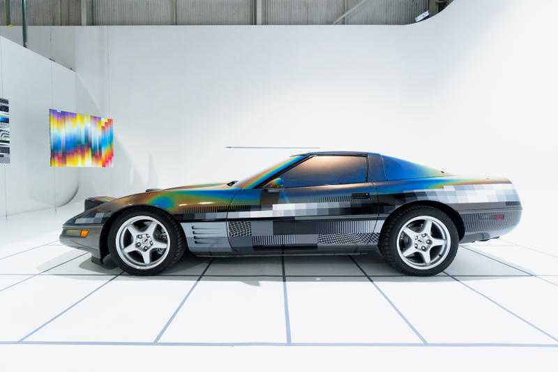 felipe pantone ultradynamic chevrolet corvette artworks beyond the streets los angeles california paintings installations