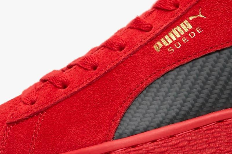 Ferrari Puma SF Suede 50 Rosso Corsa Release date 7 june drop date Italian luxury automobile sneaker footwear
