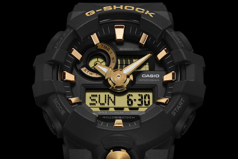G-SHOCK Gold Accent Collection GA700 GA800 watches accessories
