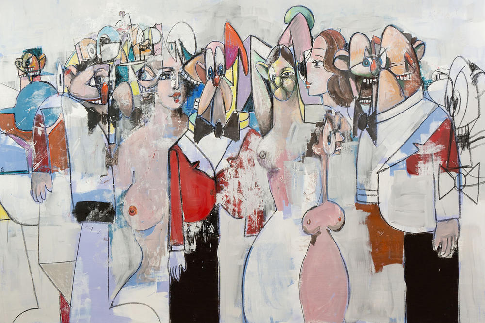 george condo museum of cycladic art exhibition athens greece paintings art artworks