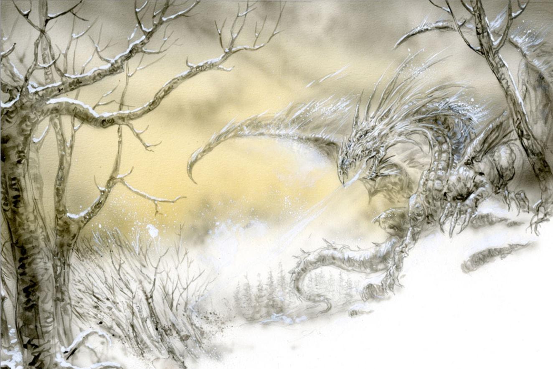 插畫家 路易斯.絡約筆下的冰龍。