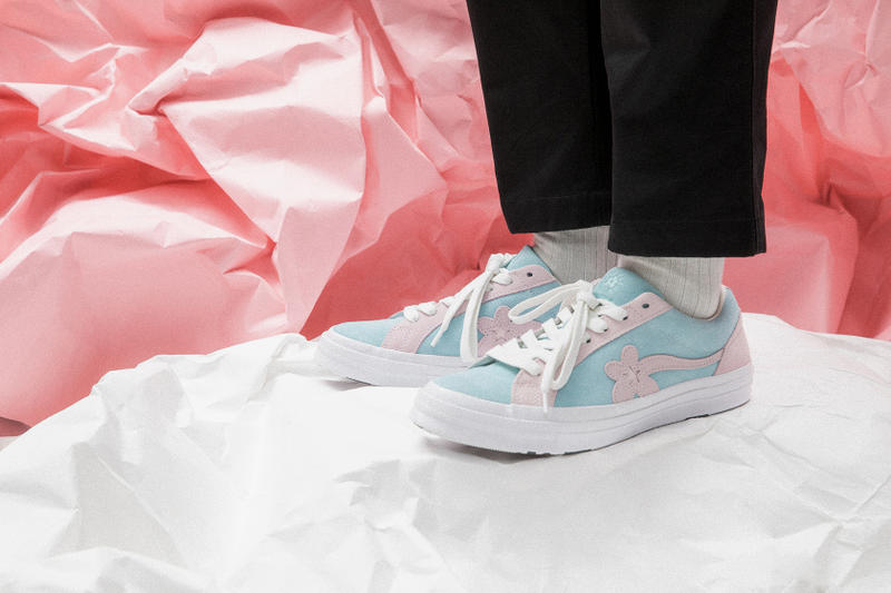 GOLF le FLEUR* x Converse Two Tone Closer Look Tyler, The Creator Pink Blue Orange Pastel Summer Release Information Details Closer Look Raffle HBX Available Now