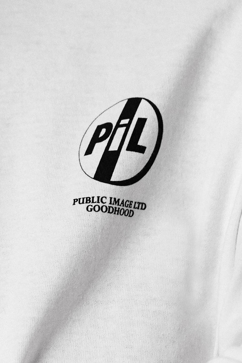 Goodhood x Bravado x Public Image Collaboration Products Release Details Coming Soon Merchandise Band Tour Documentary Public Image is Rotten