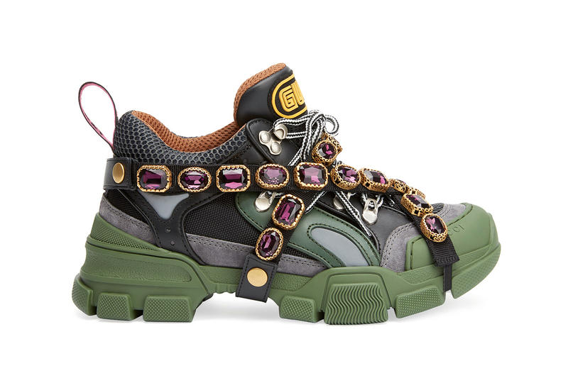 Gucci SEGA Chunky Jewels Sneaker Green Pink Black White