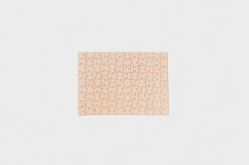 """Hender Scheme """"Flat"""" Leather Jigsaw Puzzles Veggie Tanned Natural"""