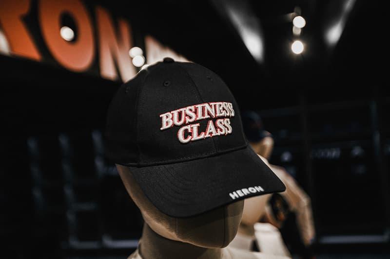 Heron Preston AIRBORNE HBX Launch Event After Party Recap Business Class T Shirt Fanny Pack Cap Hat