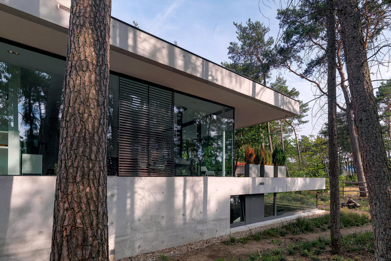 House Zeist Bedaux de Brouwer Architects The Netherlands Home House Houses Modern Interior Exterior Trees Woodland Forest Nature