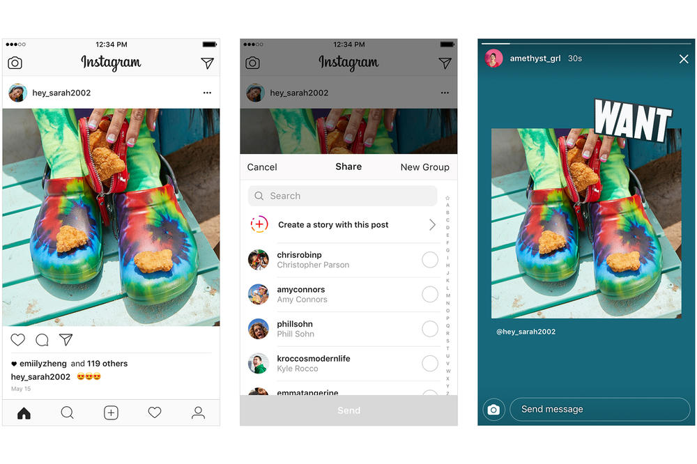 Instagram Sharing Posts Stories launched officially may 17 2018 update