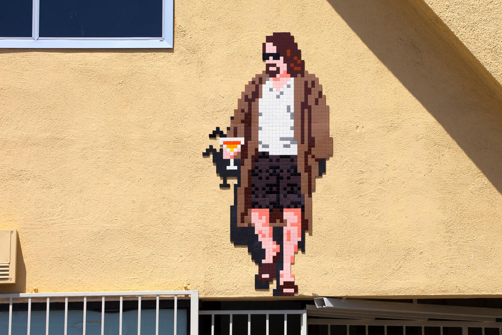 Invader The Big Lebowski LA 9th Wave of Invasion Melrose