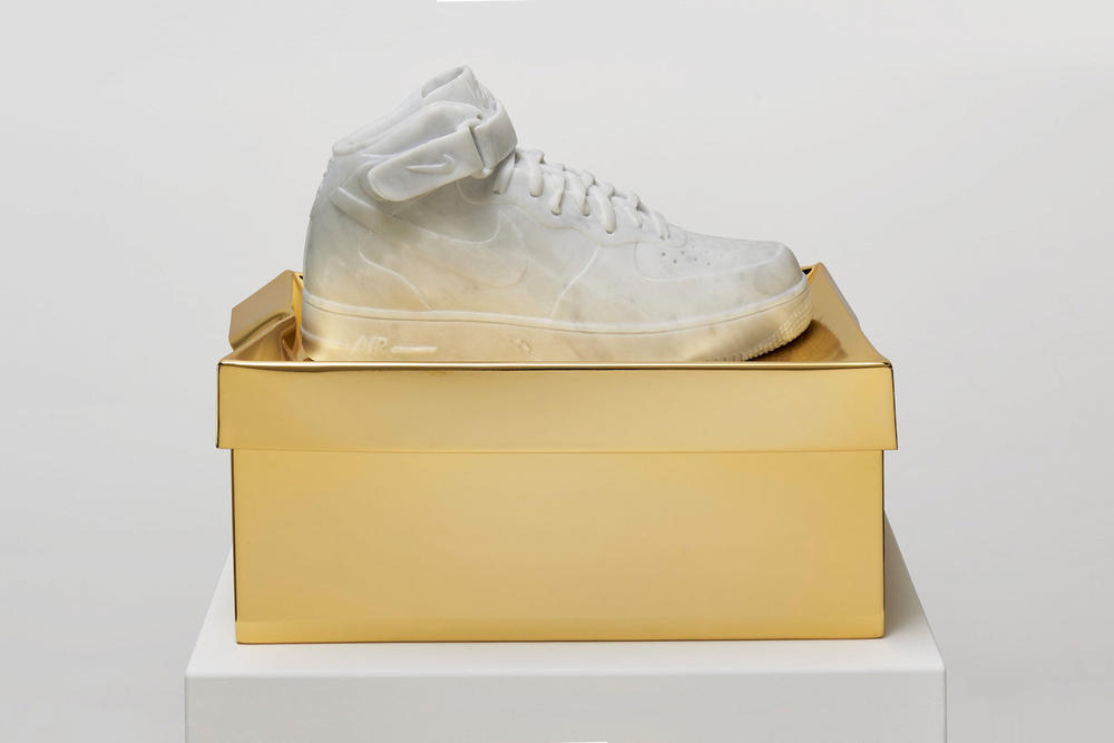 Ioaiao Gold Marble Nostalgia Collection nike sneakers and shoe box