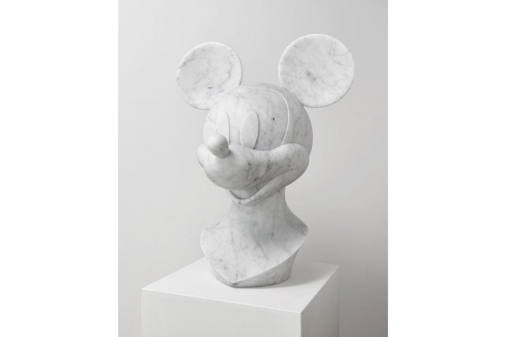 Ioaiao Gold Marble Nostalgia Collection mickey mouse head