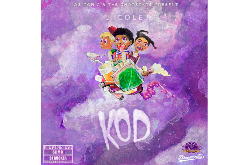 J. Cole K.O.D. OG Ron C Chopped Not Slopped Treatment