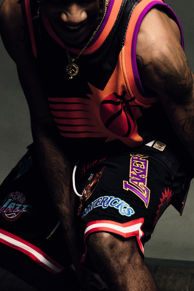 Just Don Mitchell and Ness The No Name Collection Feature Las Vegas LV Editorial Lookbook Jerseys Shorts NBA