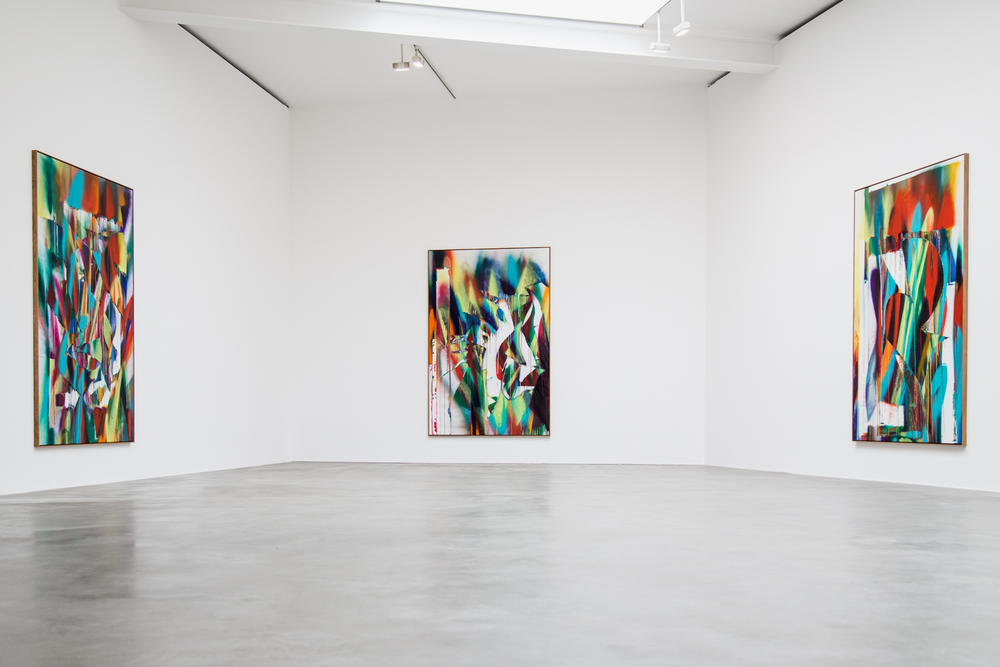 """Katharina Grosse """"Prototypes of Imagination"""" Exhibit Open Now May 16 July 27 2018 London Gagosian Britannia Street Art First Look Site Specific"""