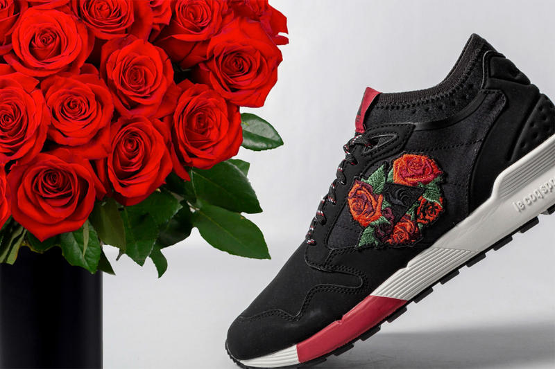 Le Coq Sportif Omicron Embroidery Black Tango Red roses may 2018 release date info drop sneakers shoes footwear