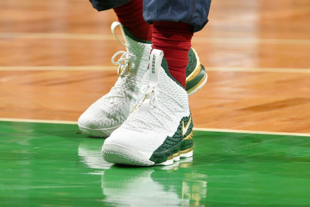 LeBron James Nike LeBron 15 SVSM PE cleveland cavaliers boston celtics 2018 footwear
