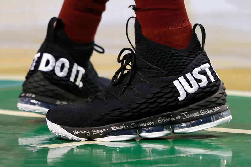 superior quality 30e20 1e9b0 LeBron James Nike LeBron 15 Just Do It