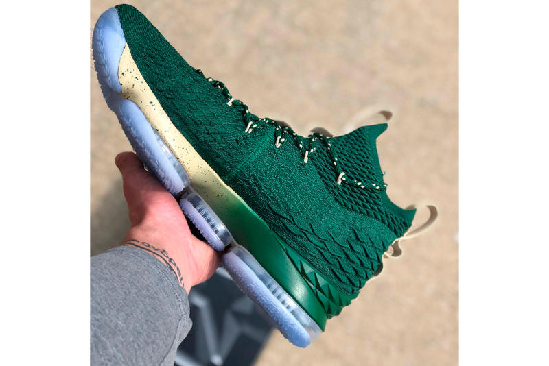 nike lebron james 15 st vincent st mary player exclusive green
