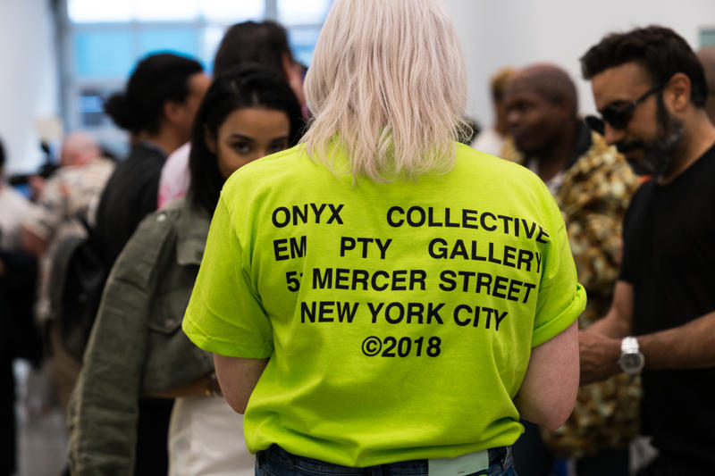 lucien smith virgil abloh off white em pty gallery exhibition paintings artworks t-shirts clothes apparel