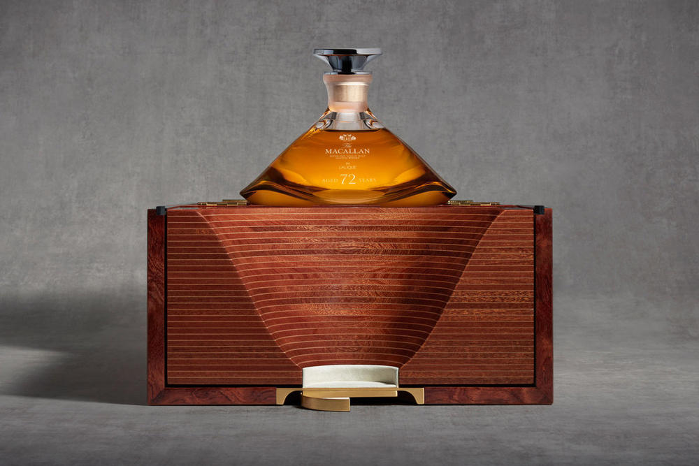 Macallan 72 Years Old Lalique Genesis Decanter 60k thousand k usd dollars Burgess Studio Distillery Single Malt Whiskey Scotch whisky