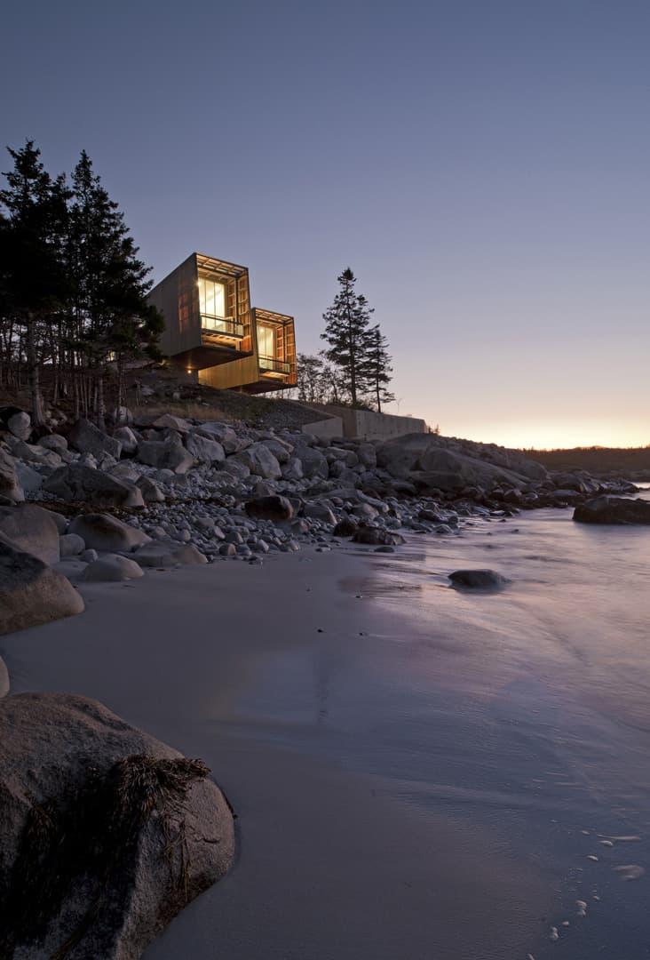 Mackay-Lyons Sweetapple Two Hulls House Halifax Nova Scotia Homes Design Interior Design nature Port Muton Architecture Atlantic Canada