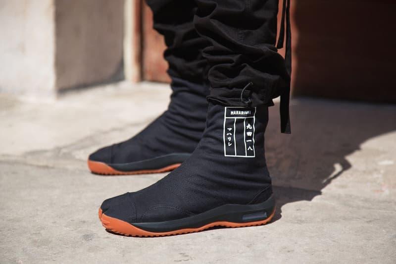 "maharishi ""maha Tabi Boot"" Release Date Sneakers Kicks Shoes Trainers Maison Margiela Utilitarian Workwear Boots Jason Markk Travel Kit"