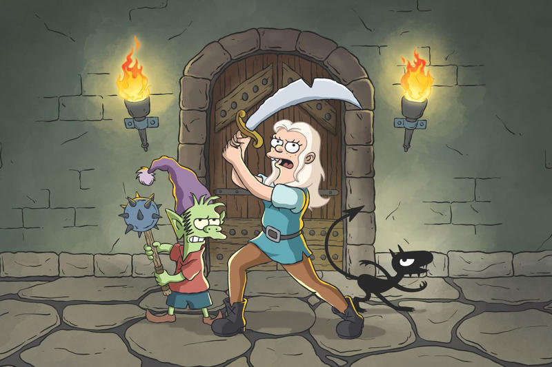 Matt Groening Disenchantment Netflix animated fantasy series simpsons august 17 2018 release date info drop debut premiere