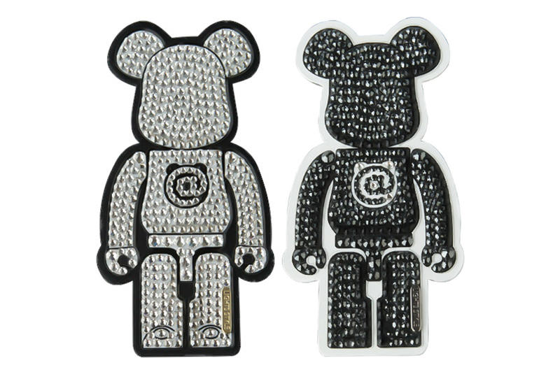 Medicom Toy BEARBRICK Decoration Stickers Rakuten White Black Crystal