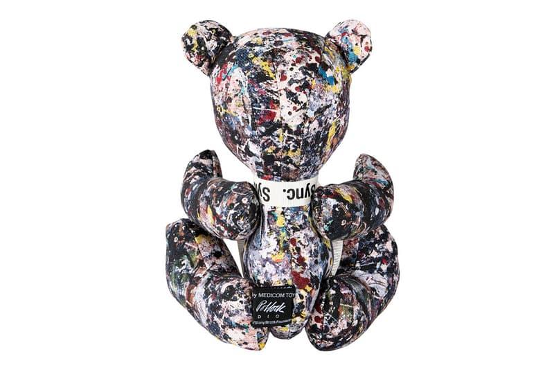Medicom Toy Sync Jackson Pollock Teddy Bear Patterns Stuffed Animals Toys