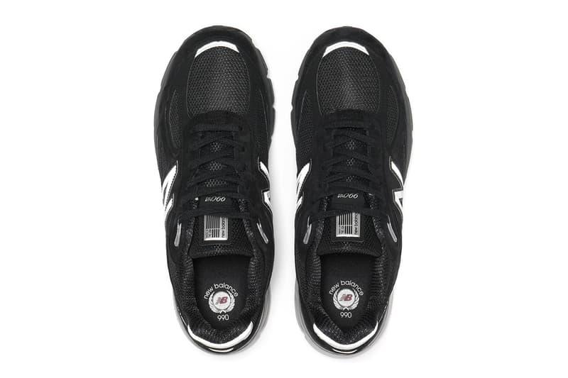 New Balance M990 Black Pig Suede Mesh release info silver footwear sneakers running