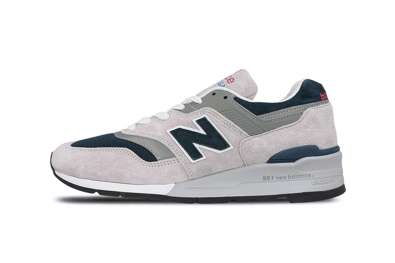 New Balance Made in USA 997 Grey White Blue Colorway Release Details Pricing Purchase Available In-Stock €229.95 EUR £200 GBP $308 USD Sneakers Kicks Shoes Trainers