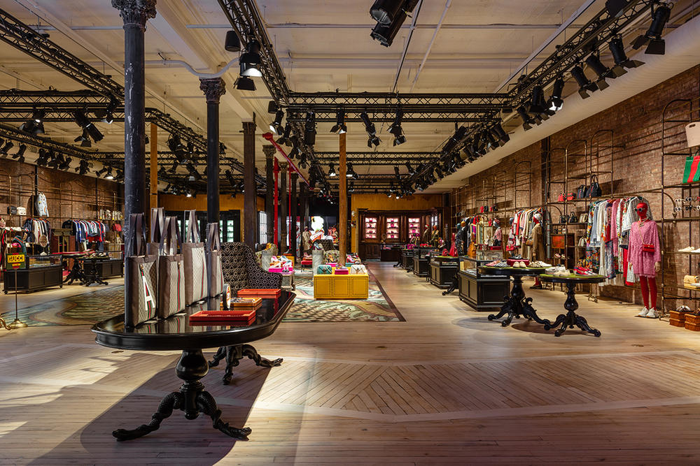 Gucci New York City SoHo Wooster Street High Fashion Dapper Dan Exclusive Opening Stores Interior Design